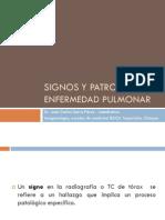 Signos y Patrones de Enfermedad Pulmonar