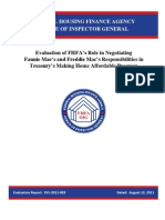 Evaluation of FHFA's Role in Negotiating Fannie Mae's and Freddie Mac's Responsibilities in Treasury's Making Home Affordable Program