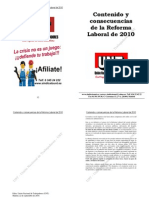 La Reforma Laboral 2010 Folleto UNT