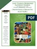 August 14, 2011 Bulletin