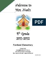 2011-2012 4th Grade Handbook