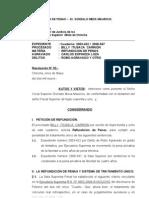 REFUNDICIÓN DE PENAS - GONZALO MEZA.