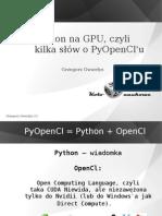 Python na GPU, czyli kilka słów o PyOpenCl'u
