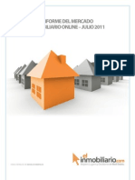 Informe del Mercado Inmobiliario Online Julio 2011