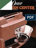 Oster Kitchen Center Manual