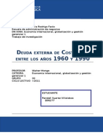 Deuda externa costarricense