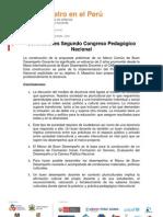 conclusiones segundocongreso pedagogico