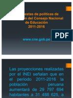 Propuestas de políticas de educación del Consejo Nacional
