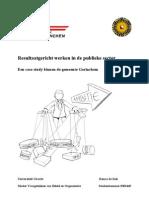 Resultaatgericht Werken in de Publieke Sector