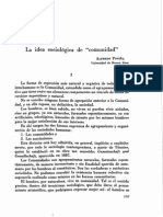 La Idea Sociologica de comunidad - Alfredo Povina