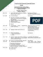 CLC 2nd Meeting Agenda