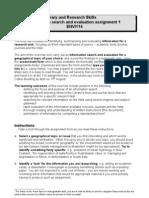 Information Skills Excercise Details