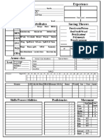 Character Sheet Front