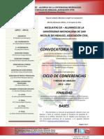 2 - de la convocatoria nacional al ciclo de conferencias y mesas de análisis 2011 - 2013