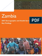 Zambia DHS - 2007 DHS Key Findings