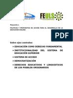 Análisis crítico y propuesta educacional.