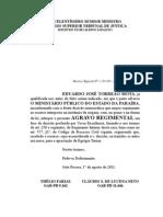 Agravo Regimental - STJ - Dudu - Improbidade