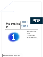 UNIDAD I MATEMATICA IV