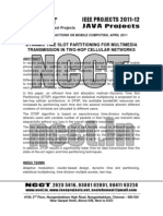 NCCT-2011 .NET IEEE Software Project Abstracts, 2011-2012
