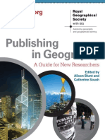 Publishing in Geography