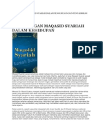 Kepentingan Maqasid Syariah Dalam Pen Gurus An Dan ran Islam