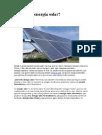 Qué es la energía solar