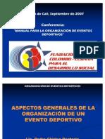 Manual Para La Organizacion de Eventos Deportivos Cap.1