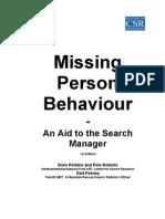 Missing Person Behaviour Handbook June 2003