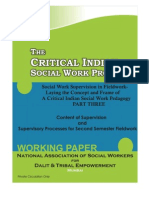 Social Work Supervision in Fieldwork Part Three-Critical Indian SW