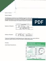 5 Bernanke Notice of Default Proof of Delivery