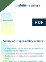 Responsibilty Centers