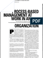 Process-based Management at Work in an Organization 2006