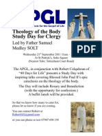 Theology of the body clergy study day