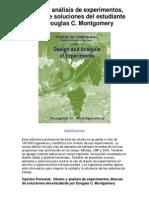 Diseño y análisis de experimentos Manual de soluciones del estudiante por Douglas C Montgomery - Averigüe por qué me encanta!