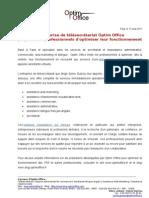 Optim Office, services de telesecretariat pour TPE et indépendants