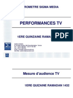 Sigmag Performance Tv 1ere Quizaine Ramadan 1432