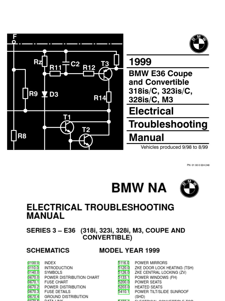 1999 bmw 318is-c - 323is-c - 328is-c - m3 electrical troubleshooting manual
