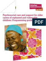 Psychosocial Care and Support for Older Carers of Orphaned and Vulnerable Children
