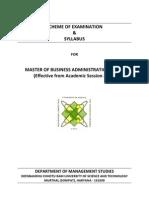 MBA Syllabus and Scheme Wef 2011