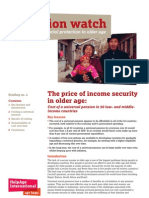 The Price of Income Security in Older Age