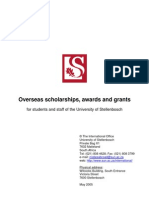 International Scholarships Booklet