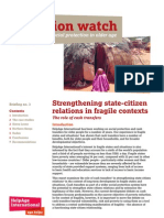 Strengthening State-Citizen Relations in Fragile Contexts