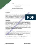 Solved SMU BBA  Semetser 3 Assignments of  Summer 2011