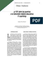 La TDT abre las puertas a la televisión digital educativa (T-Learning)