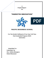 Marketing Innovation(Mukul Bhanawat)Pbs-e