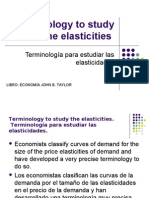 Terminology to Study the Elasticities