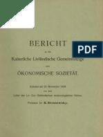Bericht an die Kaiserliche Livländische Gemeinnützige und Ökonomische Sozietät