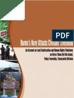 Burma Navy Attacks Civilians Livelihood 2011