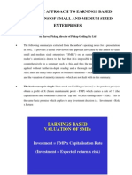 The Basic Approach to Earnings Based Valuations of Small and Medium Sized Enterprises