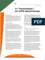 Absorption Transmission Reflectance Spectroscopy